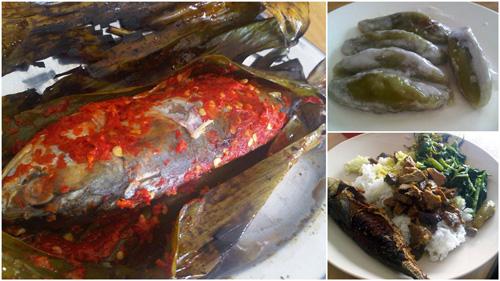 ikan kembung bakar, dessert, lunch