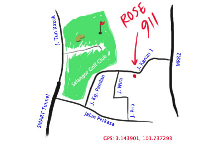 map to restaurant rose 911