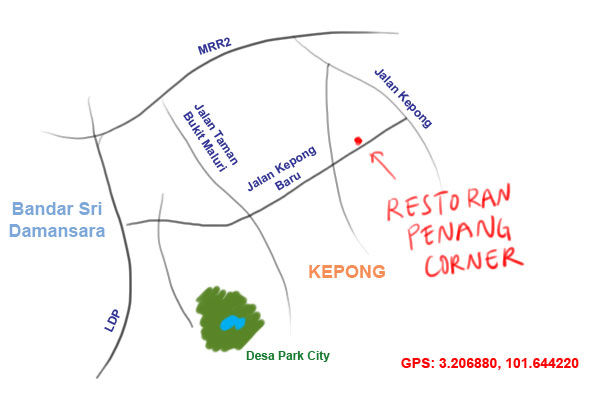 Kyspeaks tag curry mee map to restoran penang corner kepong ccuart Choice Image
