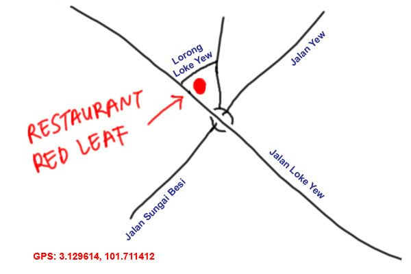 map to restaurant red leaf