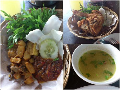 ayam penyet set at RM 6.50, yum yum