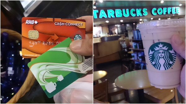I reloaded RM 30 cash to my starbucks card