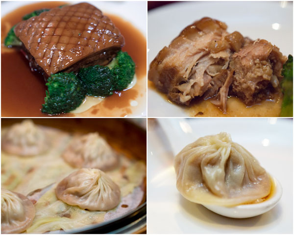 braised Shanghainese pork,  xiao long bao
