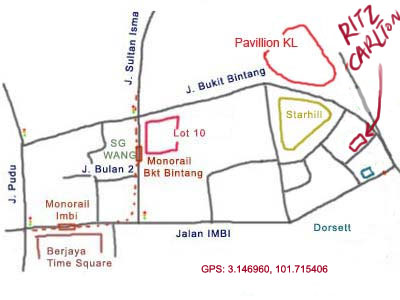 map to Ritz Carlton Hotel