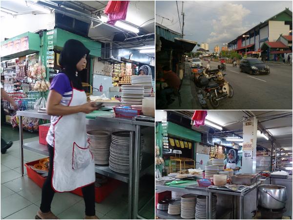 Malay roti canai/roti arab stall at Dato' Keramat market