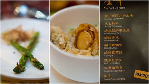 asparagus, abalone fried rice
