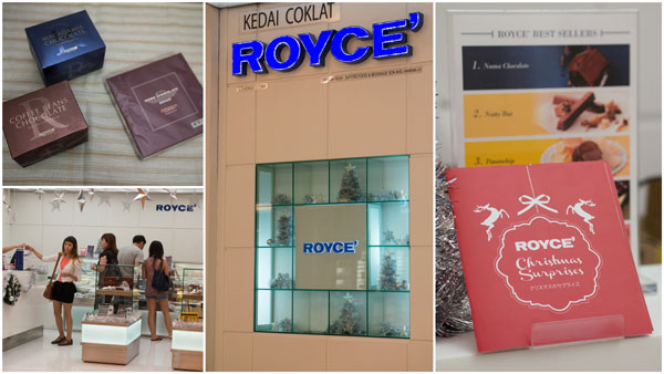 Royce' can be found at TCM, Isetan KLCC, BV, Empire, Gardens, and BIG