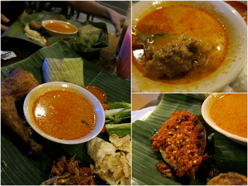 nasi timbel ayam &amp; nasi timbel tenggiri