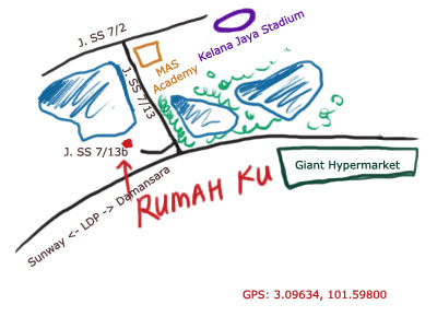 map to Rumah Ku at Kelana Jaya