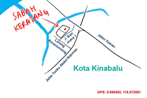 Sabah Keratang map