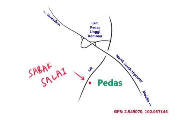 map to Sabak Salai, Negeri Sembilan