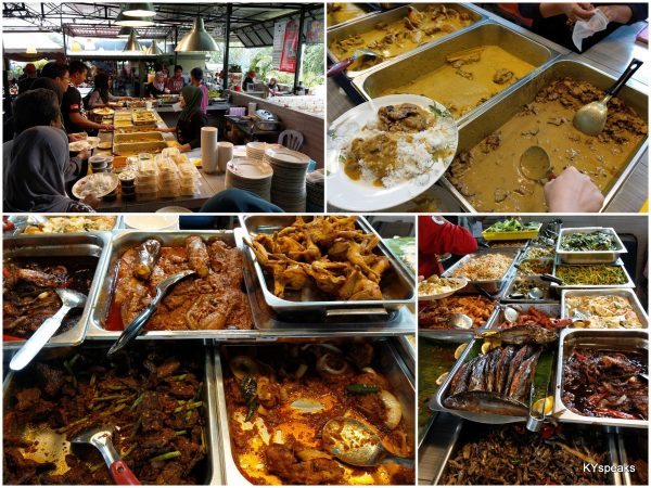 choices of dishes at Sabak Salai