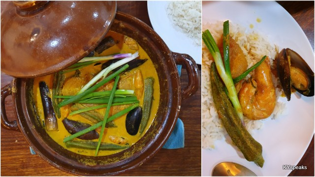 viola, it's all done, seafood curry with salted fish bone