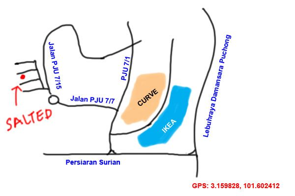 map to SALTed, Mutiara Damansara