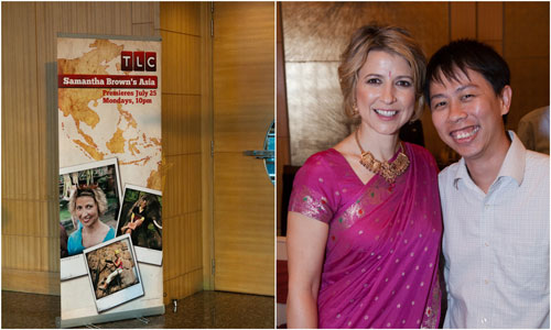 Samantha Brown of TLC, and yours truly