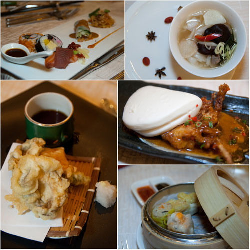 Asian dinner served by Hilton KL