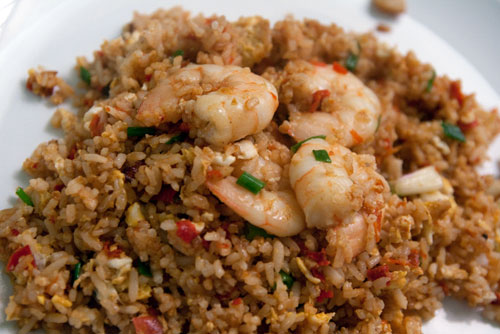 sambal belacan fried rice with prawns