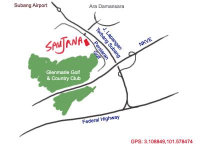 map to Saujana Kuala Lumpur