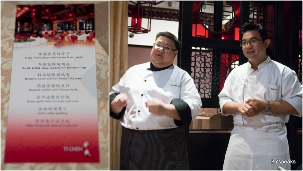 Saujana's Ti Chen Chinese Restaurant with Chef Sam Lu (right)
