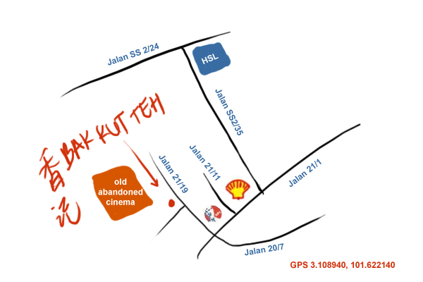 map to seapark bak kut teh