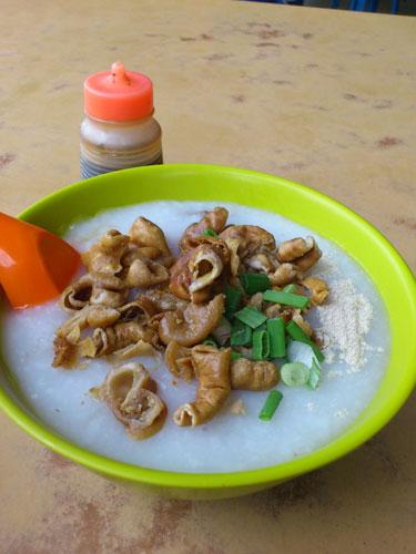 pork intestine porridge at Seapark, PJ