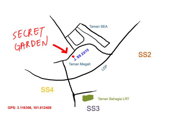 secret garden chinese restaurant, taman megah