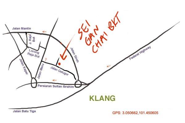map to sei ngan chai bak kut teh, klang