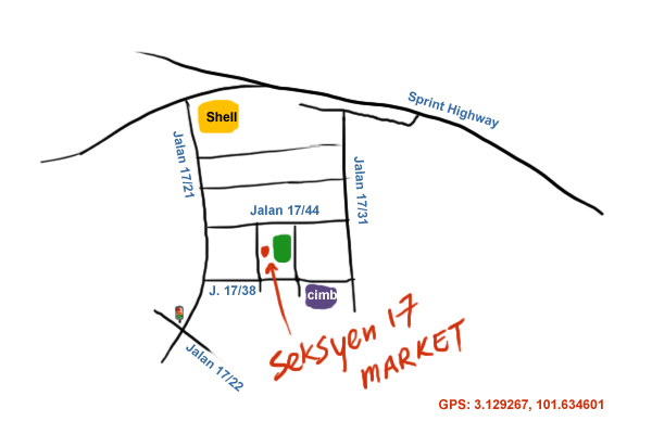 direction to PJ Seksyen 17 wai sek kai