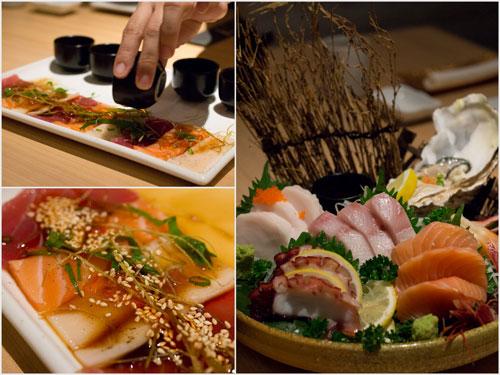 carpaccio mori and iso moriwase sashimi