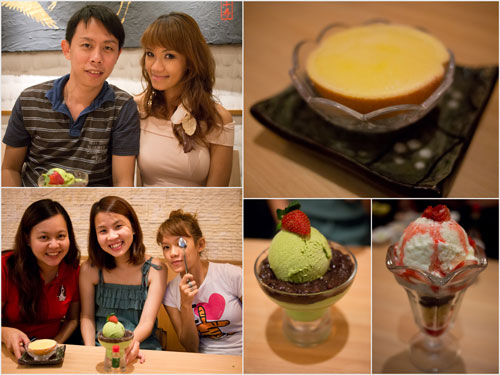 KY, Haze, Kerol, Yuki, and some desserts at Senjyu