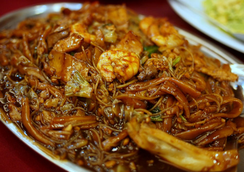 the old school hokkien mee, made with charcoal fire
