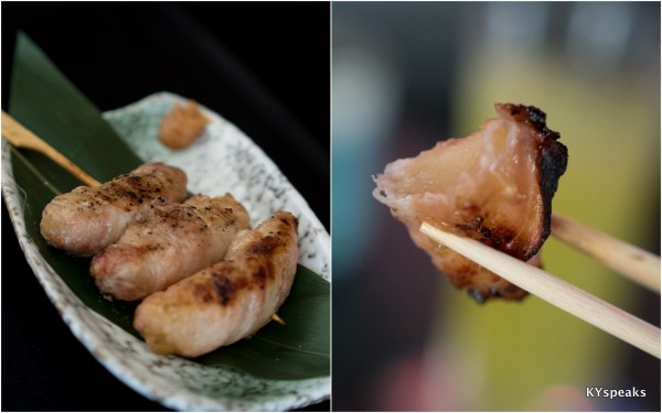 Aomori Apple with Pork Belly Skewer