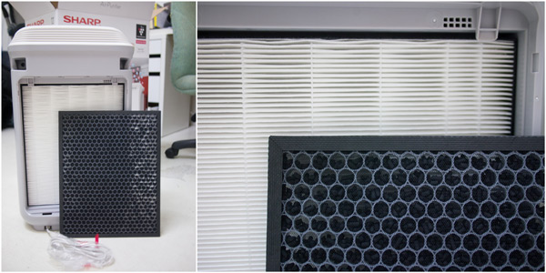 HEPA filter and deodorizing filter