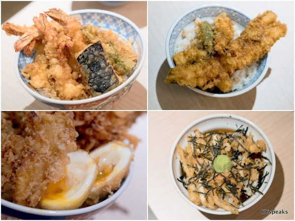 shrimp tendon, deluxe tendon, chef's special tendon, tencha