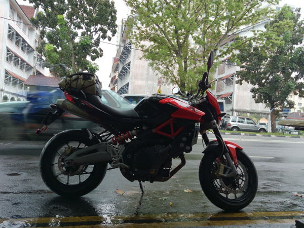 traveling back to Penang with Aprilia Shiver