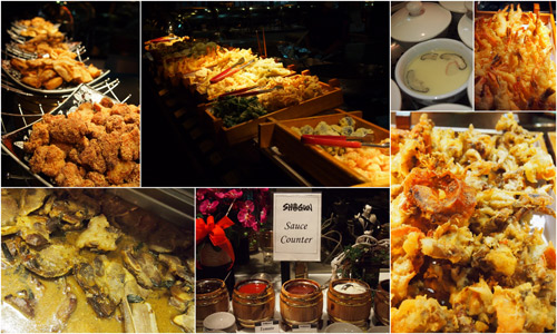 tempura, dimsum, chawamushi, etc