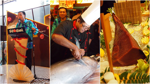 tuna cutting ceremony, after the speech by Datuk Michael Chong