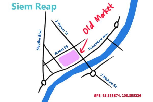 siem reap old market map
