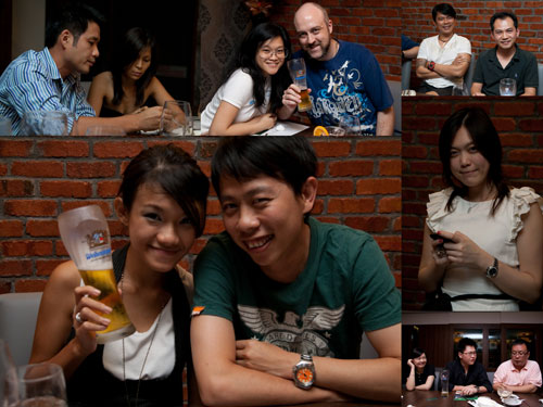 Rebecca & bf, Kim & Gareth, Terence & Horng, KY & Haze, Jessica, Joe & partner & Cheng Yi