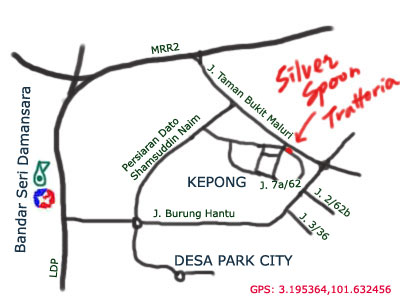 silver spoon trattoria map