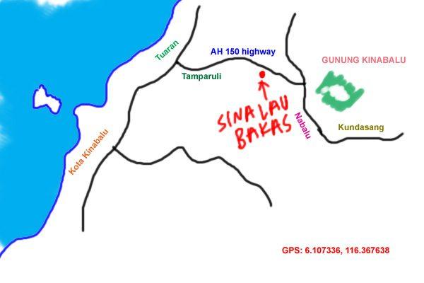 map to Sinalau Bakas stalls