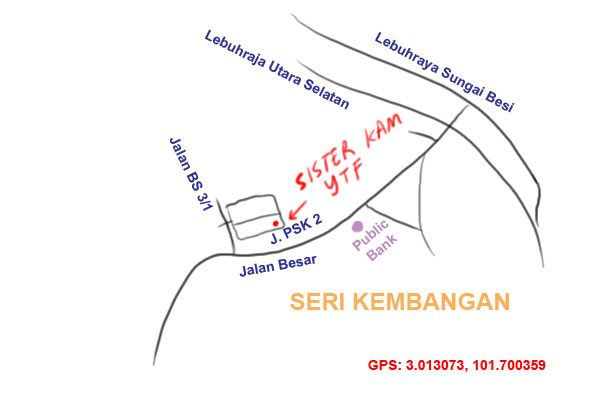 map to Sister Kam Yong Tau Foo at Seri Kembangan