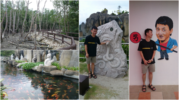 plenty of statues, a nice koi pond, and jungle walk at Tua Pek Kong temple