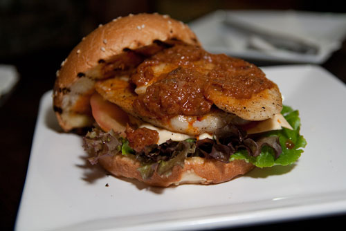spicy fish burger
