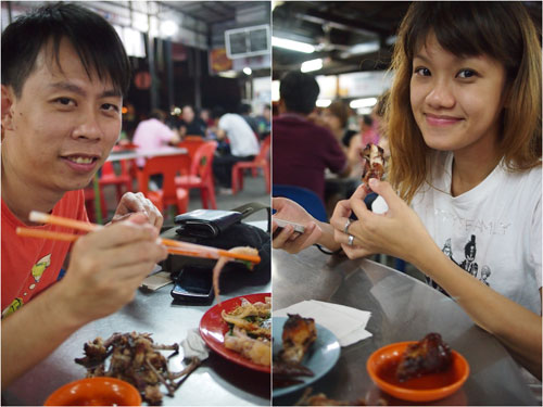 and this is how you have supper in Penang :D