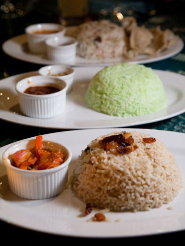 nasi minyak, pandan nasi lemak, nasi kerabu