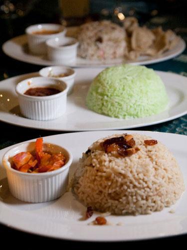 nasi minyak, pandan nasi lemak, nasi kerabu