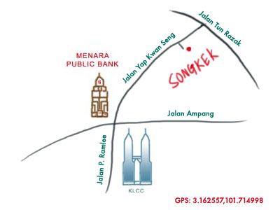map to songkek restaurant
