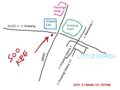 map to Soo Kee restaurant at Jalan Ampang