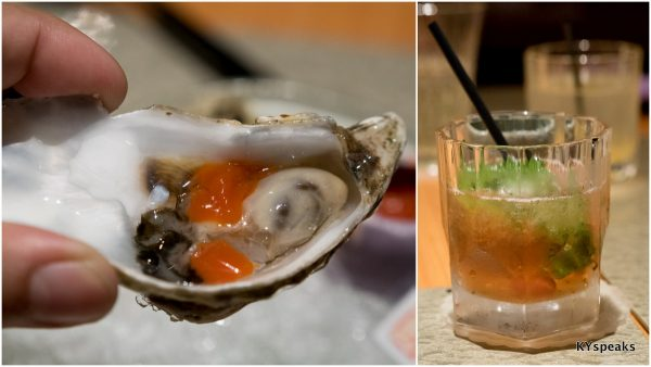 Netherlands oyster with homemade tabasco